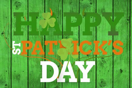 Happy st patricks day on green background