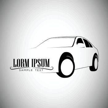 Logo car vintage style, classic vector Illustration.