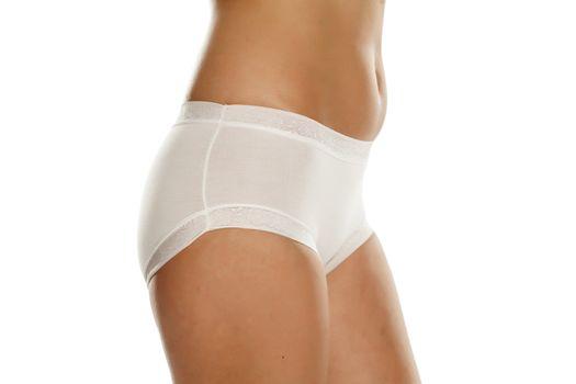 pretty feminine hips and white panties