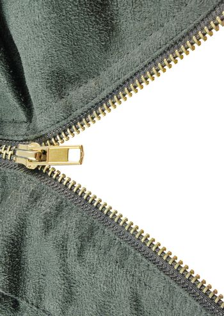 zipper closeup on grey cloth