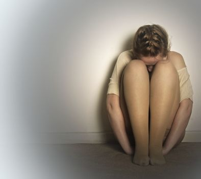 creative picture of woman in depression