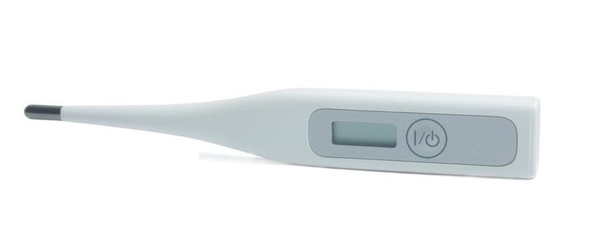 electronic thermometer isolated on white