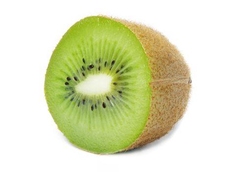 closeup of kiwi isolated on white