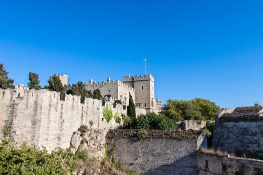 Rhodes Island, Greece, a symbol of Rhodes, the main entrance of the famous Knights Grand Master Palace also known as Castello