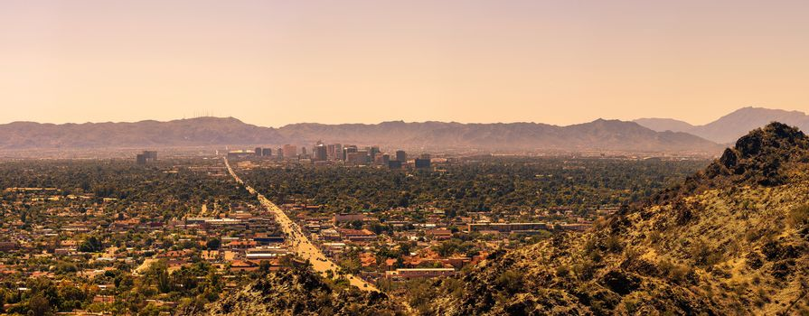 Panorama of Phoenix downtown