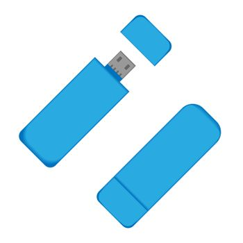 Flash drive USB. Memory for the computer. Flat style