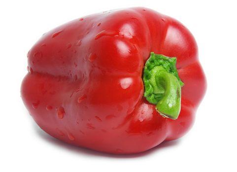 red capsicum pepper on white