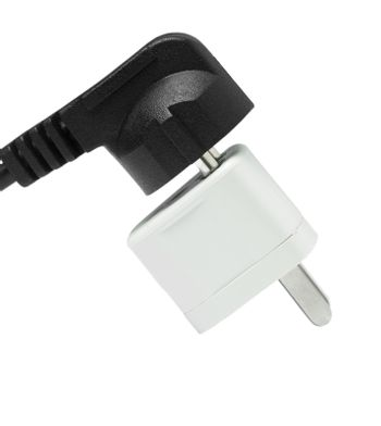 electricity connection adaptor on white