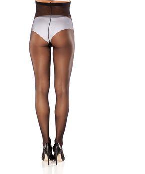 nice cared feminine legs in nylon stockings