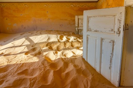 Kolmanskop abandoned building near Luderitz in Namibia, Africa.
