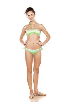 pretty girl posing in a swimsuit