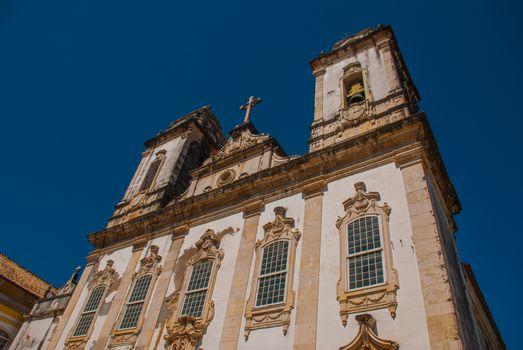 SALVADOR, BAHIA, BRAZIL - MARCH 2019: Catholic church, historic district of Pelourinho. The historic center of Salvador