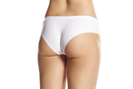 Female bottom in white panties