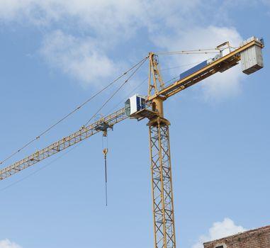 High crane on a building site