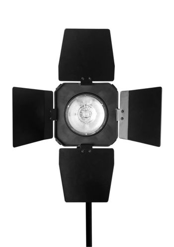 studio flash isolated on white