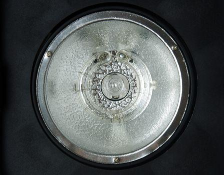 studio flash bulb closeup