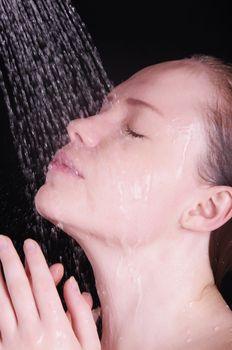 beautiful woman in shower