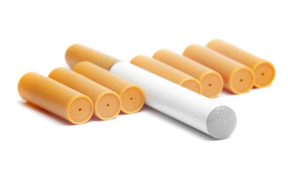 electronic cigarette with filters closeup