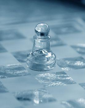 chess piece closeup