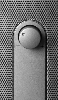volume switch on metal texture