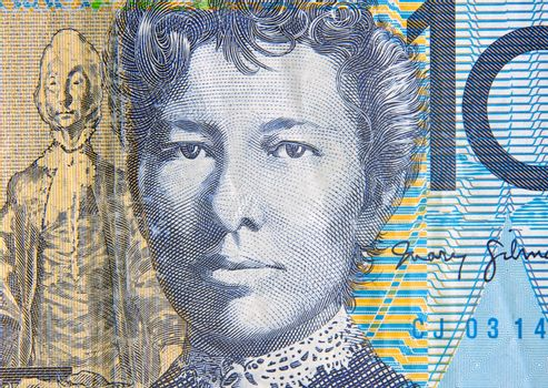 australian ten dollars note portrait