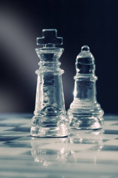 chess piece closeup in sunlight
