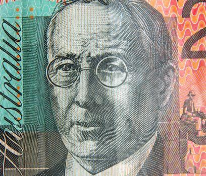 australian twenty dollars note portrait