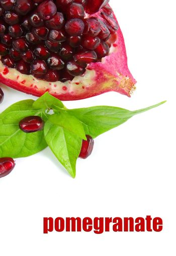 pomegranate on the white background
