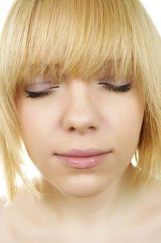 beautiful portrait of blonde woman