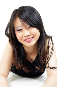 portrait of beautiful fashion asian woman