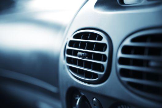 car interior.air conditioner. very shallow DOF