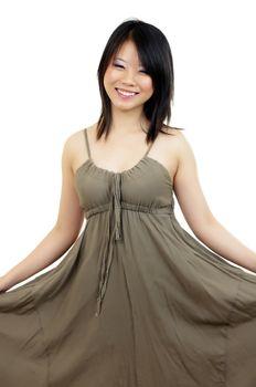 beautiful asian girl with dress