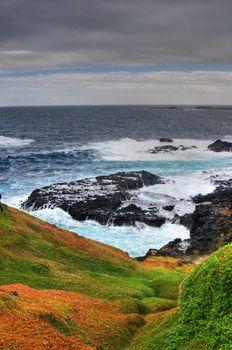 Beautiful australian coastline.Phillip Island. Hdr Shot