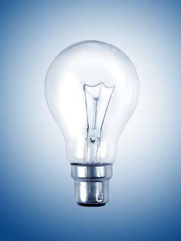 light bulb on the blue surface