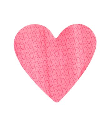 paper heart isolated over white