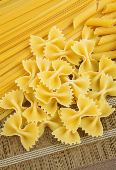 raw pasta closeup on table