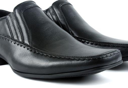 male black elegant shoes on white