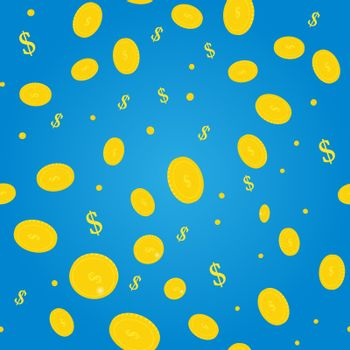 Golden coins. Background of money. Vector illustration