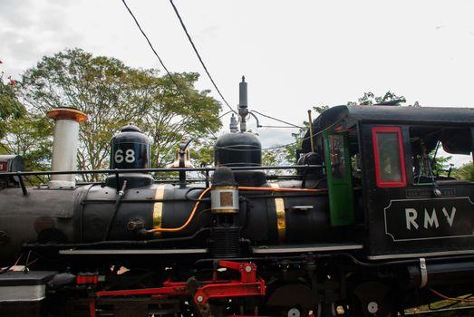 Tiradentes, Minas Gerais, Brazil: Retro train Old May Smoke in Tiradentes ,a touristic Colonial Unesco World Heritage city in Minas Gerais, Brazil.
