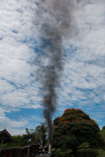 Tiradentes, Minas Gerais, Brazil: Old May Smoke train in Tiradentes, a Colonial Unesco World Heritage city. The train standing on a rotating switch, used to maneuver it in the correct direction