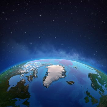 Arctic and Greenland from space