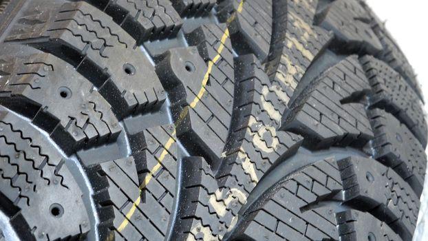 detail of a modern winter tire