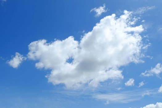 Blue Sky and Clouds Background.