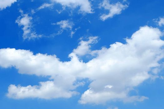 Beautiful White Cloud with Blue Sky Background.
