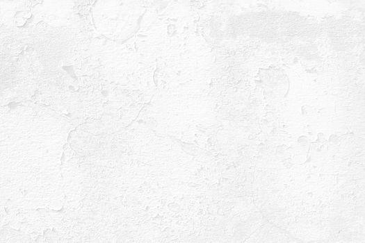 White Paint Peeling Concrete Wall Background.