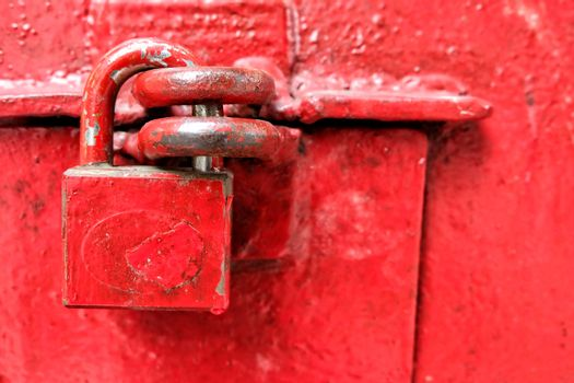 Old Red Lock Background.