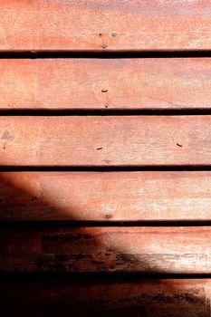 Wood Wall with Sun Light.