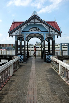 Beautiful Ancient Pavilion in Front of Santa Cruz Catholic Church, Bangkok Thailand.