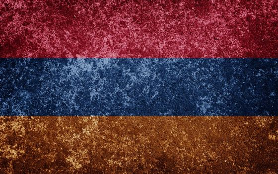 Armenia flag painted on concete