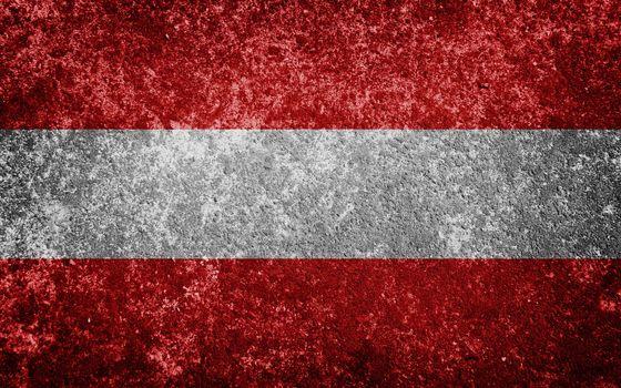austria flag painted on concete